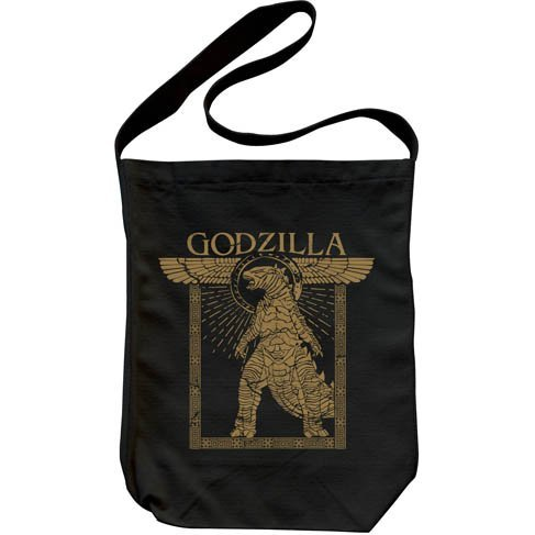 Godzilla: King Of The Monsters - Godzilla Shoulder Tote Bag Black