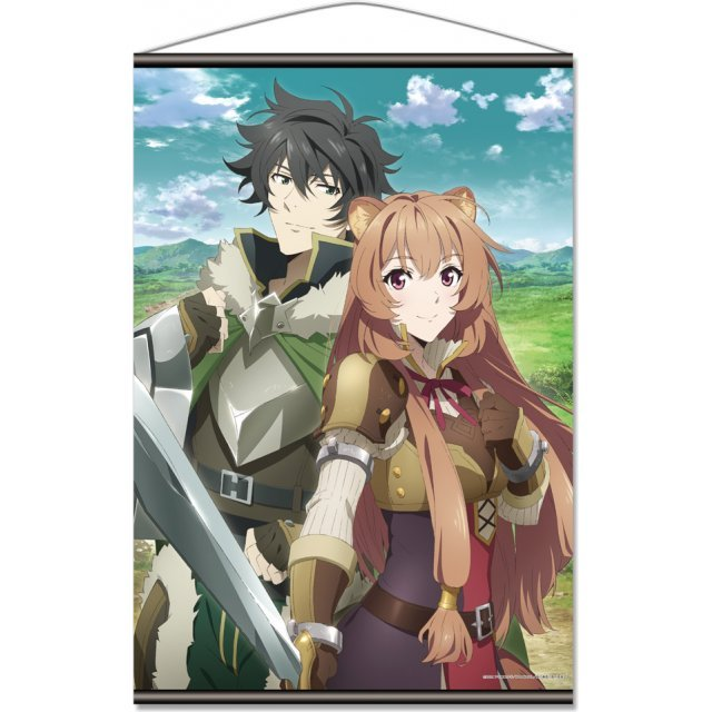 The Rising of the Shield Hero B2 Wall Scroll A: Naofumi & Raphtalia