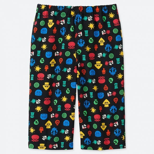 UT Splatoon - Icons Kids Easy Shorts Black (150cm Size)