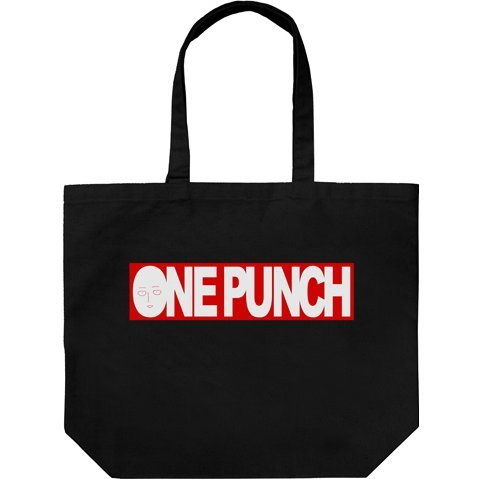 ONE PUNCH MAN - ONE PUNCH LOGO LARGE TOTE BAG BLACK
