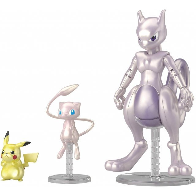Pokemon Plastic Model Collection: Mewtwo & Mew & Pikachu Set