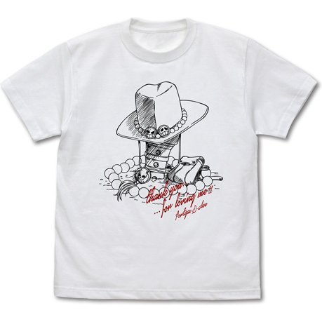 One Piece - Ace Hat T-shirt White (M Size)