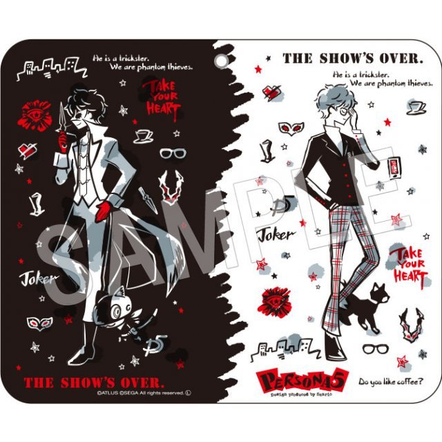 Persona 5 Main Character Book Type Smartphone Case (Design Produced by Sanrio)
