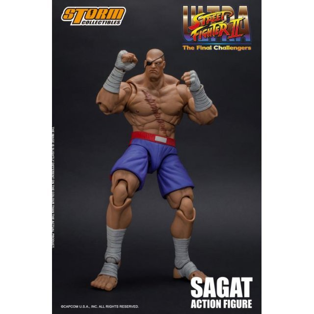 Ultra Street Fighter II The Final Challengers 1/12 Scale Pre-Painted Action Figure: Sagat