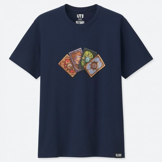 UT Blizzard Entertainment - Hearthstone Men's T-shirt Navy (S Size)