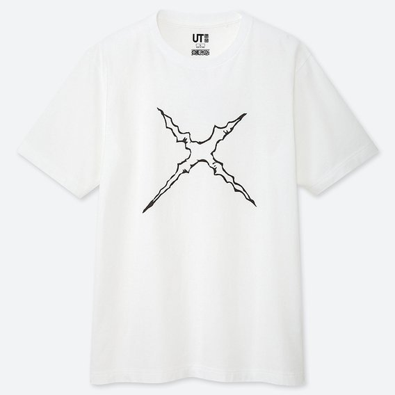 UT One Piece 20th Anniversary - Luffy Men's T-shirt White (L Size)