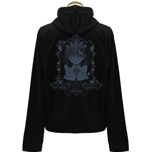 Re:Zero Starting Life In Another World - Rem Thin Dry Hoodie Black (L Size)