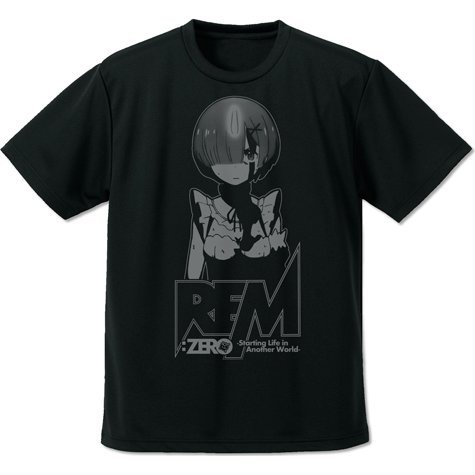 Re:Zero Starting Life In Another World - Rem Dry T-shirt Black (XL Size)