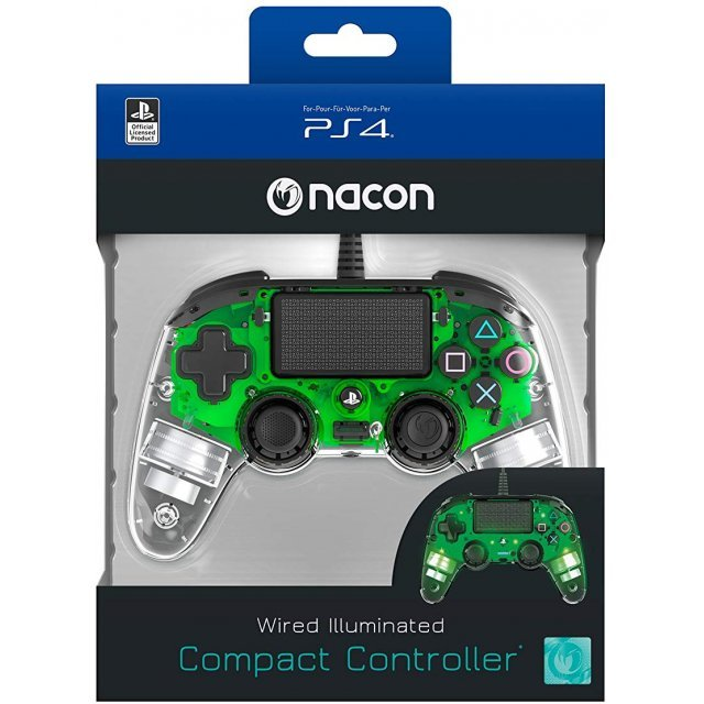 Nacon Wired Illuminated Compact Controller for PlayStation 4 (Green)