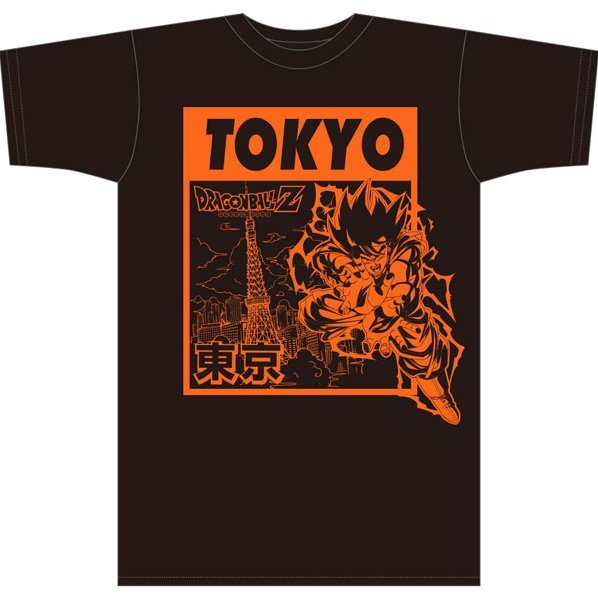 Dragon Ball Z Japan Exclusive Bottled T-shirt Tokyo Black (L Size)