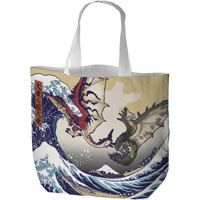 Monster Hunter Ukiyo-e Tote Bag: Rathalos And Rathian x Fugaku