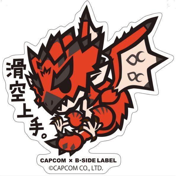 Capcom x B-Side Label Sticker Monster Hunter World Kakku Jozu