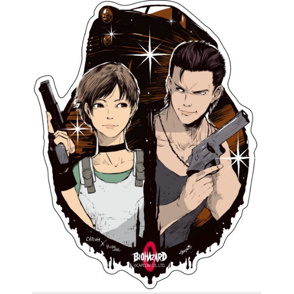 Capcom x B-Side Label Sticker Resident Evil Rebecca & Billy