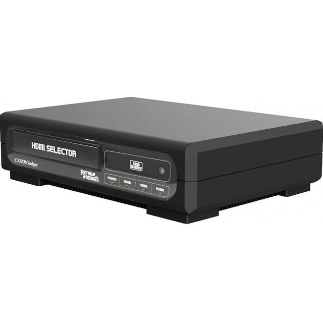 CYBER · Retro Design HDMI Selector 3-in-1 (Black)