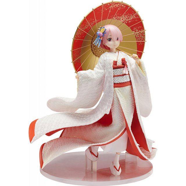 RE:ZERO KARA HAJIMERU ISEKAI SEIKATSU 1/7 SCALE PRE-PAINTED FIGURE: RAM SHIROMUKU VER.