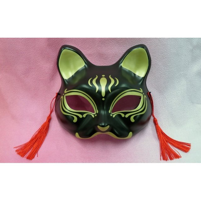 Cat Half Mask 2 Black And Gold