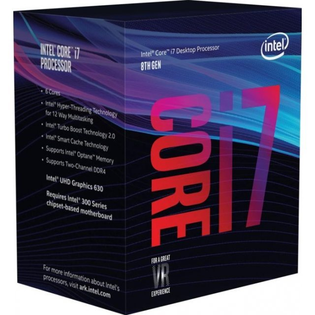 Intel Core i7-8700, 6x 3.20GHz, boxed