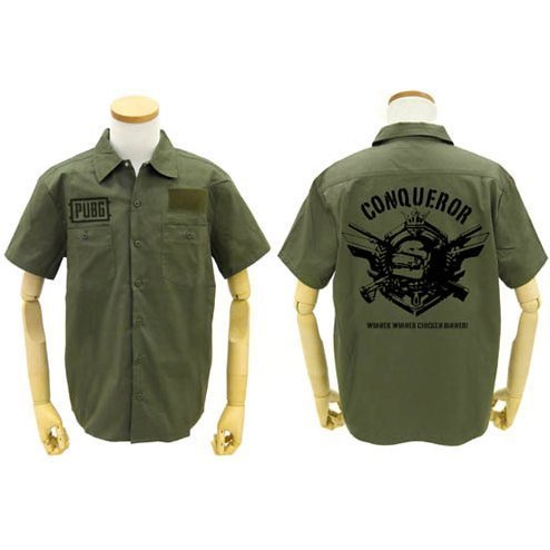 PlayerUnknown's Battlegrounds - PUBG Conqueror Patch Base Work Shirt Moss (L Size)