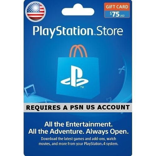 PSN Card 75 USD | Playstation Network US