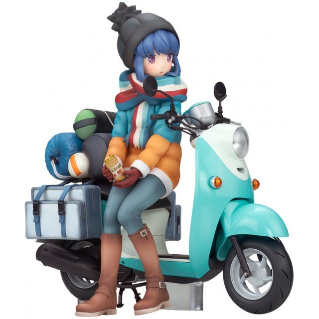 Yuru Camp 1/10 Scale Pre-Painted Figure: Rin Shima with Scooter
