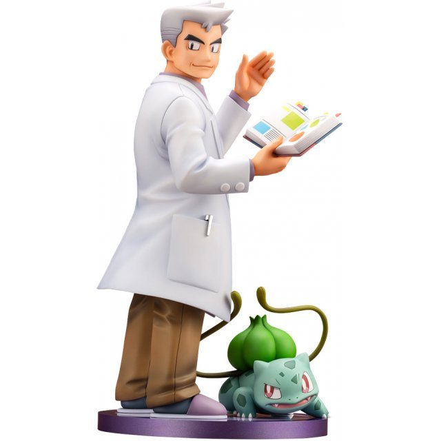 ARTFX J Pokemon Series 1/8 Scale Pre-Painted Figure: Professor Oak with Bulbasaur