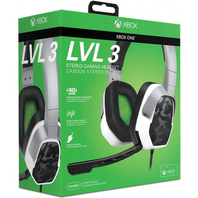 LVL 3 Wired Stereo Headset for Xbox One (White Camo)