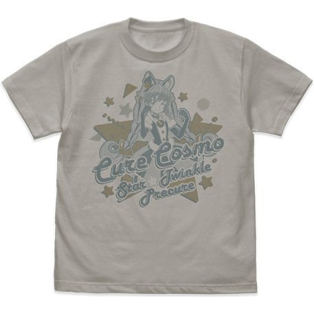 Star Twinkle Precure - Cure Cosmo T-shirt Light Gray (S Size)