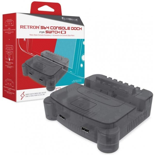 Hyperkin Retron S64 Console Dock for Nintendo Switch (Smoke Gray)