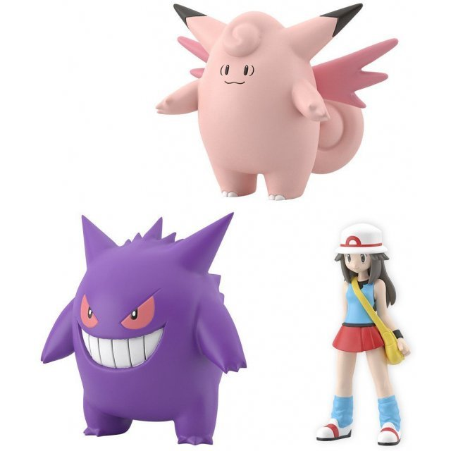 Pokemon Scale World Kanto: Leaf, Clefable, and Gengar