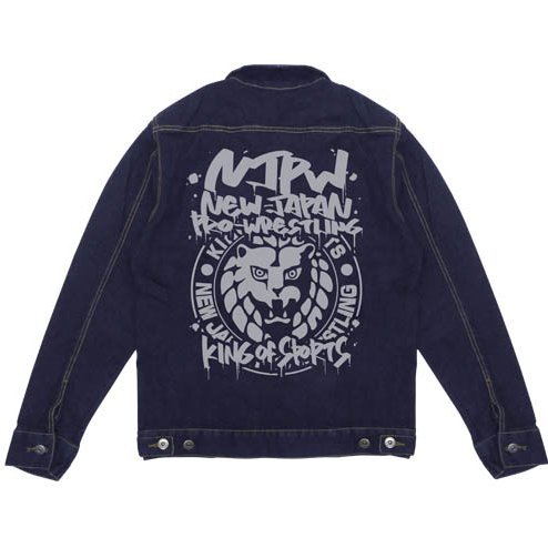 New Japan Pro-Wrestling - Lion Mark Jean Jacket Indigo (M Size)
