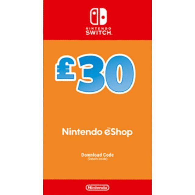 Nintendo eShop Card 30 GBP | UK Account