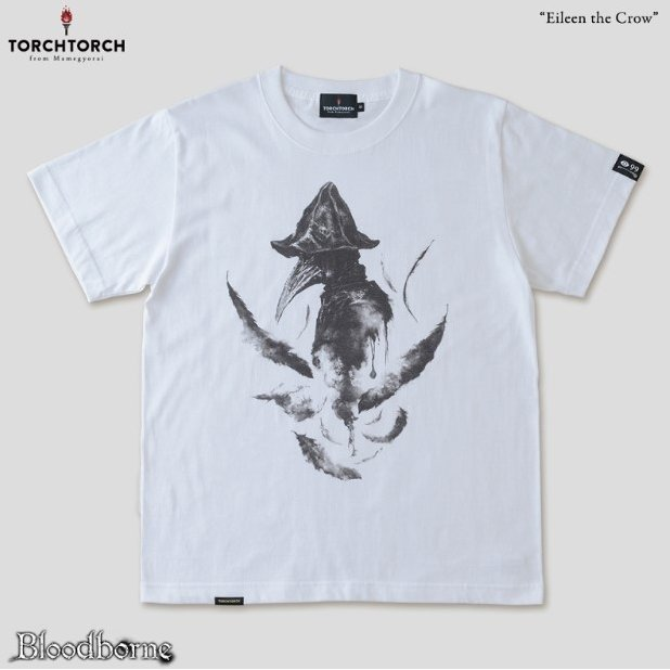 Bloodborne Torch Torch T-shirt Collection: Eileen The Crow White (XL Size)