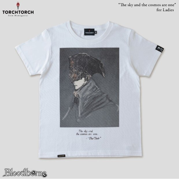 Bloodborne Torch Torch T-shirt Collection: The Sky And The Cosmos Are One White Ladies (L Size)