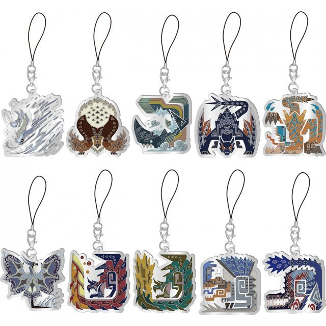 Monster Hunter World: Iceborne Monster Icon Stained Glass Type Mascot Collection (Set of 10 pieces)