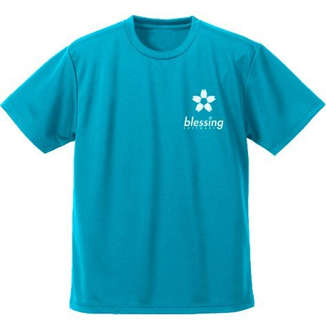 Saekano: How To Raise A Boring Girlfriend Fine - Blessing Software Dry T-shirt Turquoise Blue (M Size)