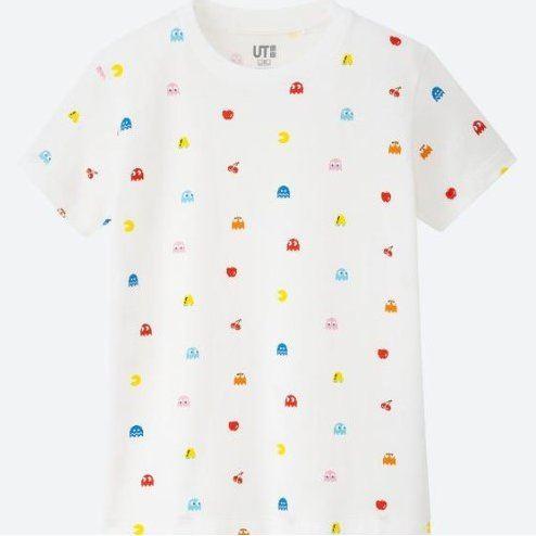 d173fc42 UT The Game Classic Pixels - Pac-Man Kids T-shirt White (150cm Size)