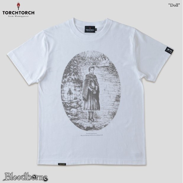 Bloodborne Torch Torch T-shirt Collection: Doll White (L Size)