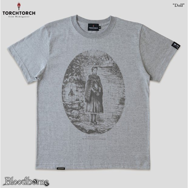 Bloodborne Torch Torch T-shirt Collection: Doll Heather Gray (M Size)