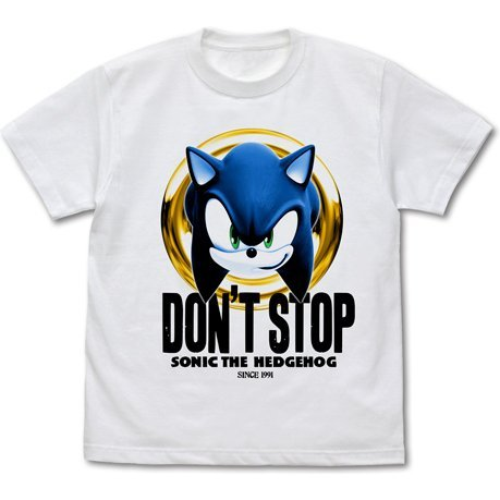 Sonic The Hedgehog - Don't Stop Sonic T-shirt White (XL Size)
