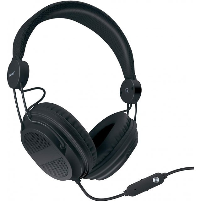i.Sound HM-310 Kid Friendly Headphone with In-line Microphone (Black)