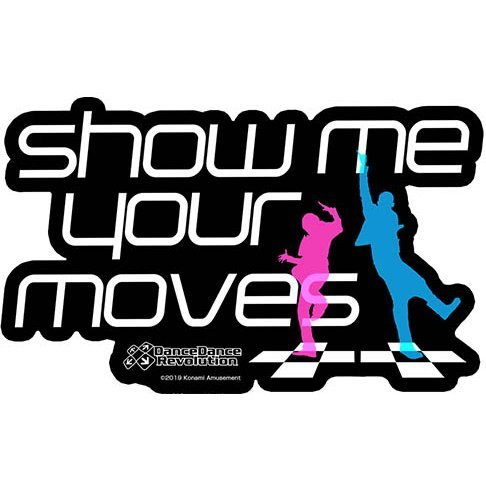 Dance Dance Revolution - Show Me Your Moves Waterproof Sticker