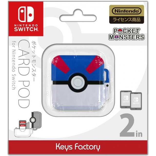 Pocket Monsters Card Pod for Nintendo Switch (Great Ball)