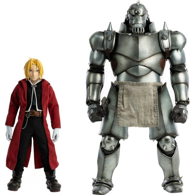 Fullmetal Alchemist Brotherhood 1/6 Scale Action Figure: Edward Elric + Alphonse Elric Twin-pack