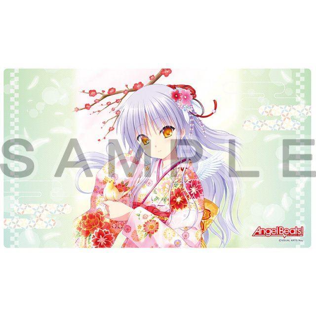 Angel Beats! Rubber Mat: Kanade/Kimono