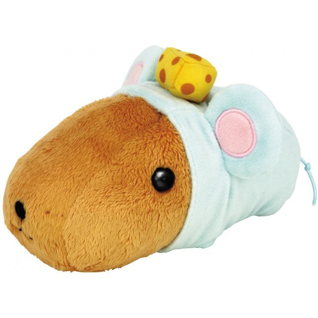 AQUA plush Doll Safari Mochi Mochi capybara Soft Small Stuffed Toy 00100292 17cm