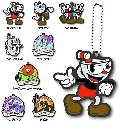 Cuphead Rubber Mascot (Set of 8 pieces)
