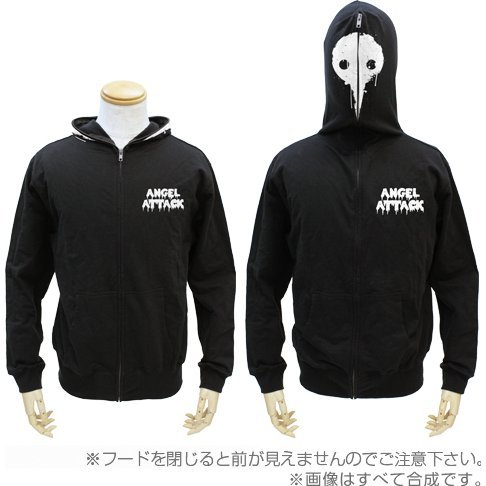 Rebuild Of Evangelion - Angel Full Zip Hoodie Black (M Size)