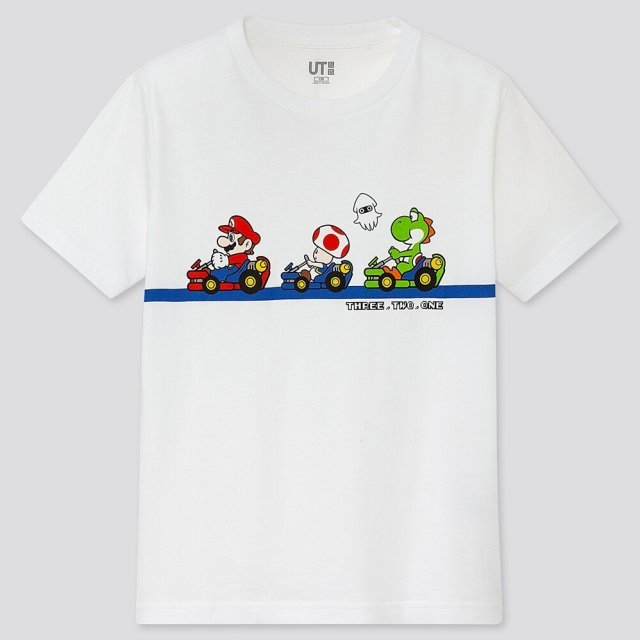 UT Mario Kart Friendship - Start Kids T-shirt White (120cm Size)