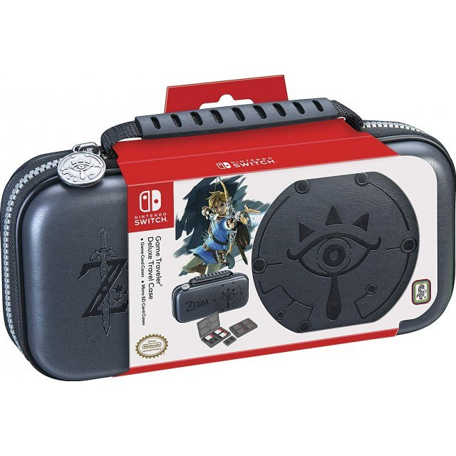 Game Traveler Deluxe Travel Case Zelda Breath of the Wild for Nintendo Switch (Sheikah Eye) [Grey]