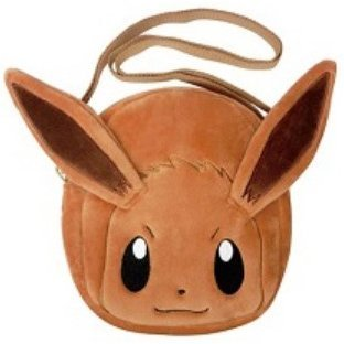 Pokemon Plush Pochette: Eevee Face